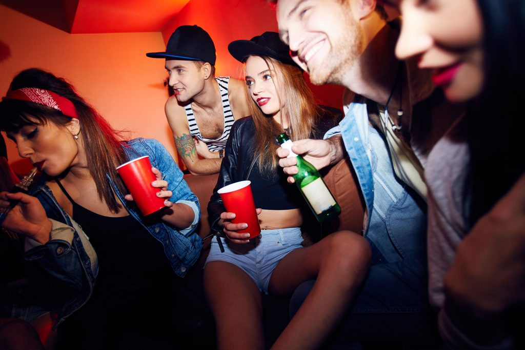 teen partying